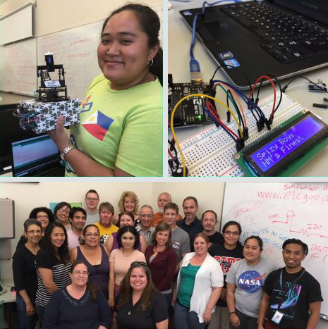 MESA educators rock out their Arduino suntracker builds with innovation and delight!