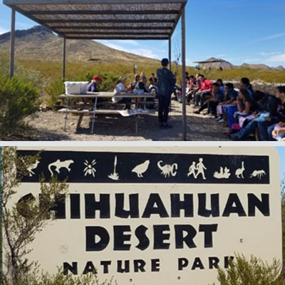 MESA student learn about the land!